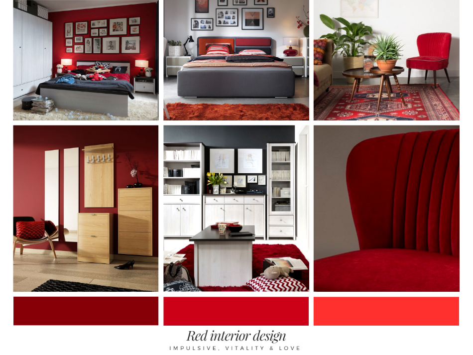 5001507c6fe510 czerwone wnętrze, inspiracja, TwojeMeble, jak urządzić mieszkanie w  czerwonym kolorze