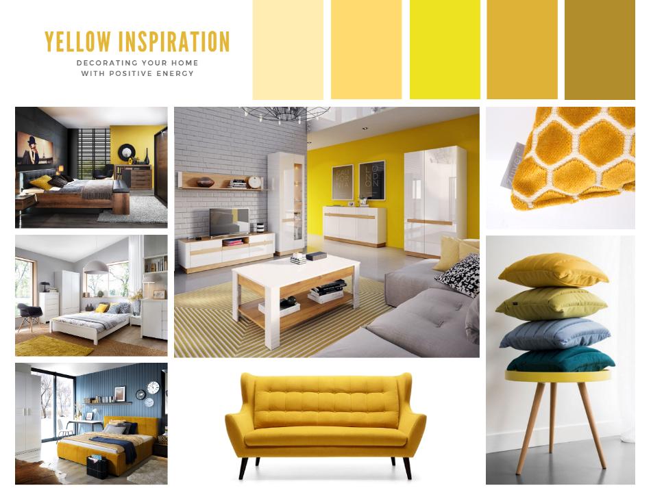 ba08e5d885646a żółte wnętrze, inspiracja, TwojeMeble, jak urządzić mieszkanie w żółtych,  wiosennych kolorach